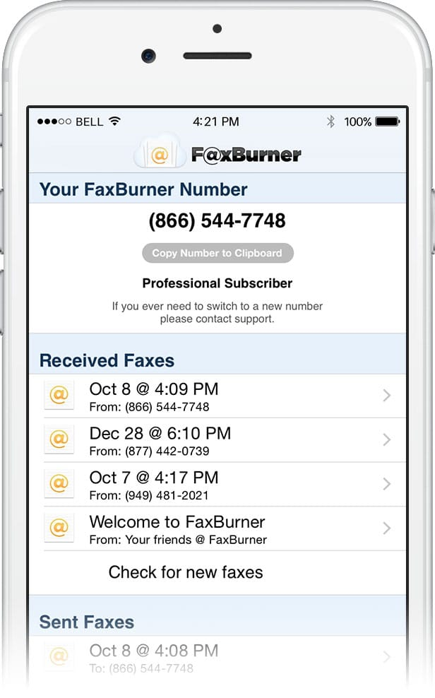 fax to email iphone app
