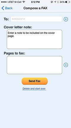 online fax compose
